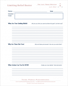 Limiting Belief Buster Worksheet
